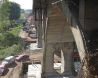Резка железнодорожного моста стенорезной машиной Pentruder