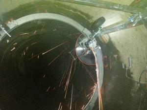 Спецпроект с круглыми направляющими для стенорезной машины Pentruder