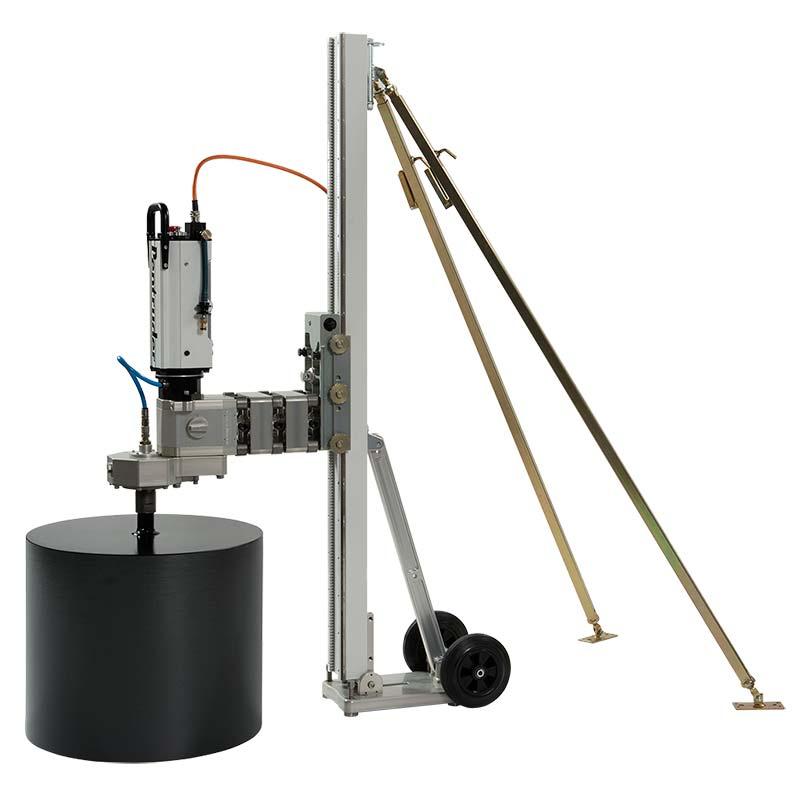 Сверлильная машина Pentruder MD1-MDU на стойке MCCS с дополнительным задним упором